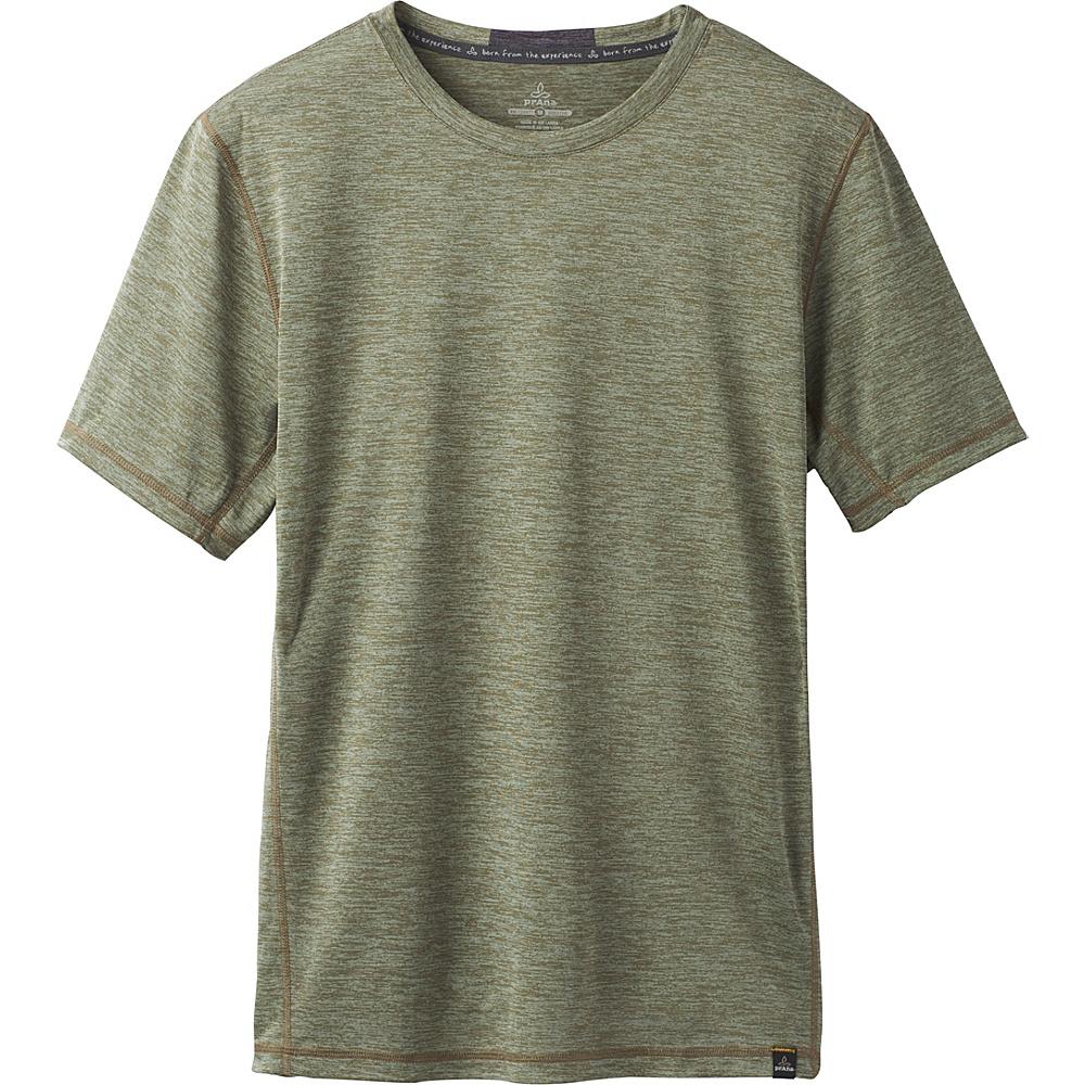 PrAna Hardesty Short Sleeve T-Shirt XXL - Cargo Green - PrAna Mens Apparel - Apparel & Footwear, Men's Apparel