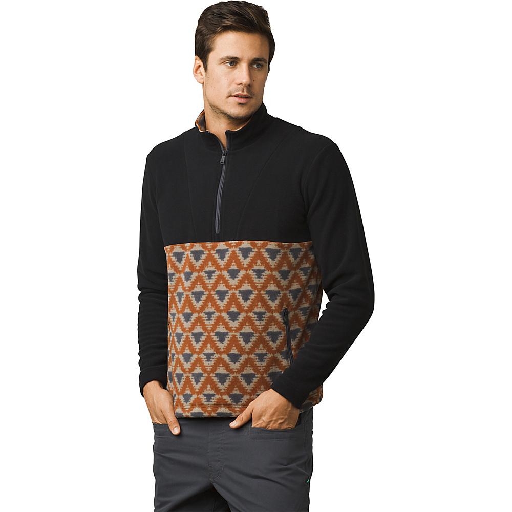 PrAna Arnu 1/4 Zip Pullover Jacket XL - Dark Khaki - PrAna Mens Apparel - Apparel & Footwear, Men's Apparel