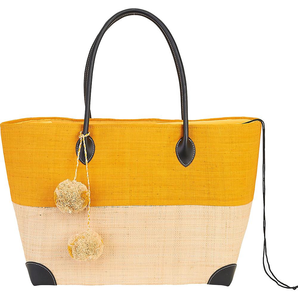 Sun N Sand Raffia Madagascar Handbag Tote Saffron - Sun N Sand Straw Handbags - Handbags, Straw Handbags
