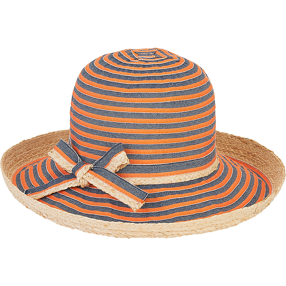 Sun N Sand Ribbons Hat Orange - Sun N Sand Hats - Fashion Accessories, Hats