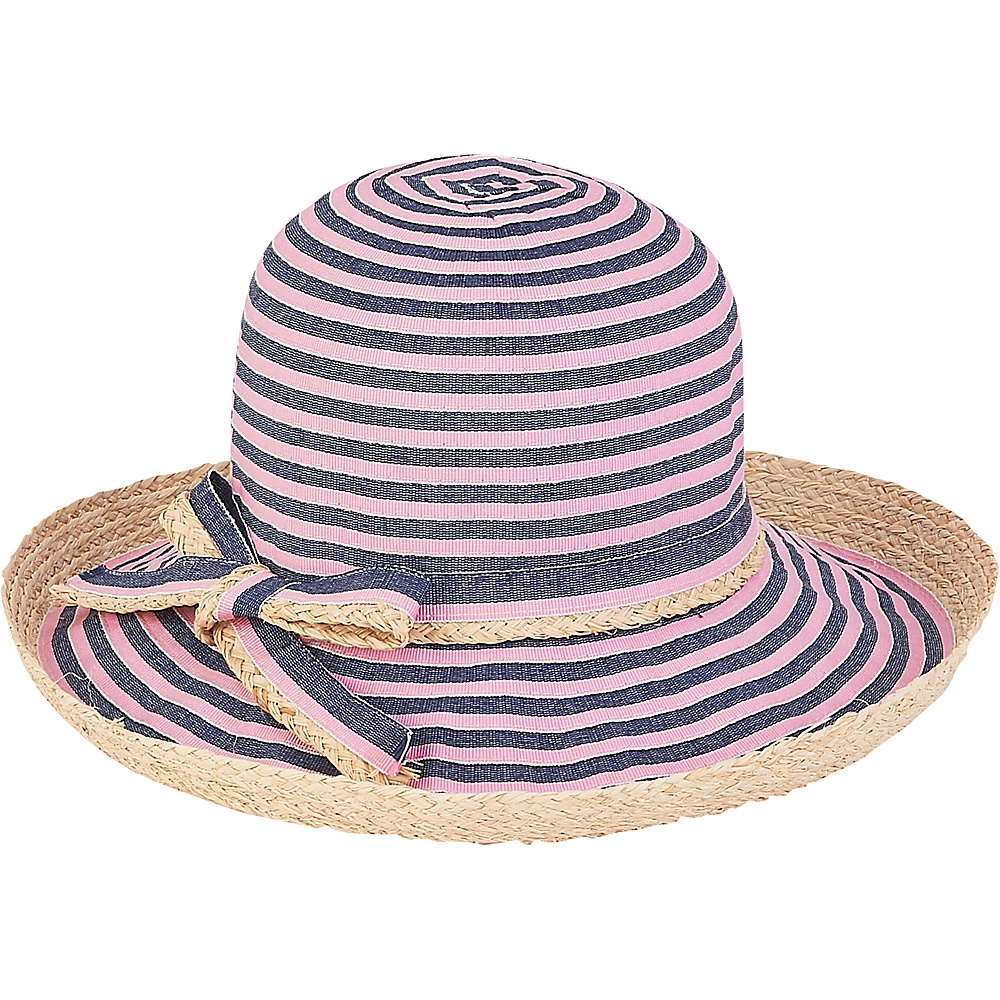 Sun N Sand Ribbons Hat D-Pink - Sun N Sand Hats - Fashion Accessories, Hats