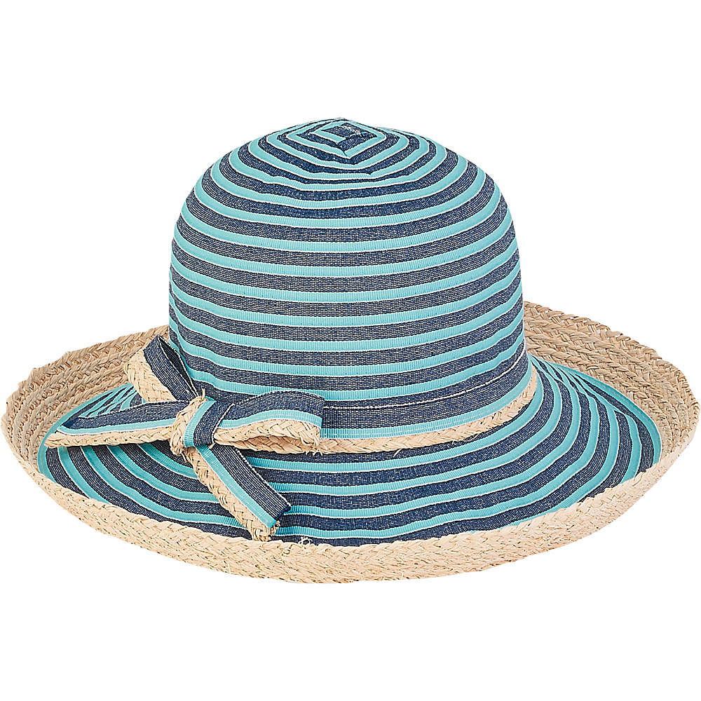 Sun N Sand Ribbons Hat E-Turquoise - Sun N Sand Hats - Fashion Accessories, Hats