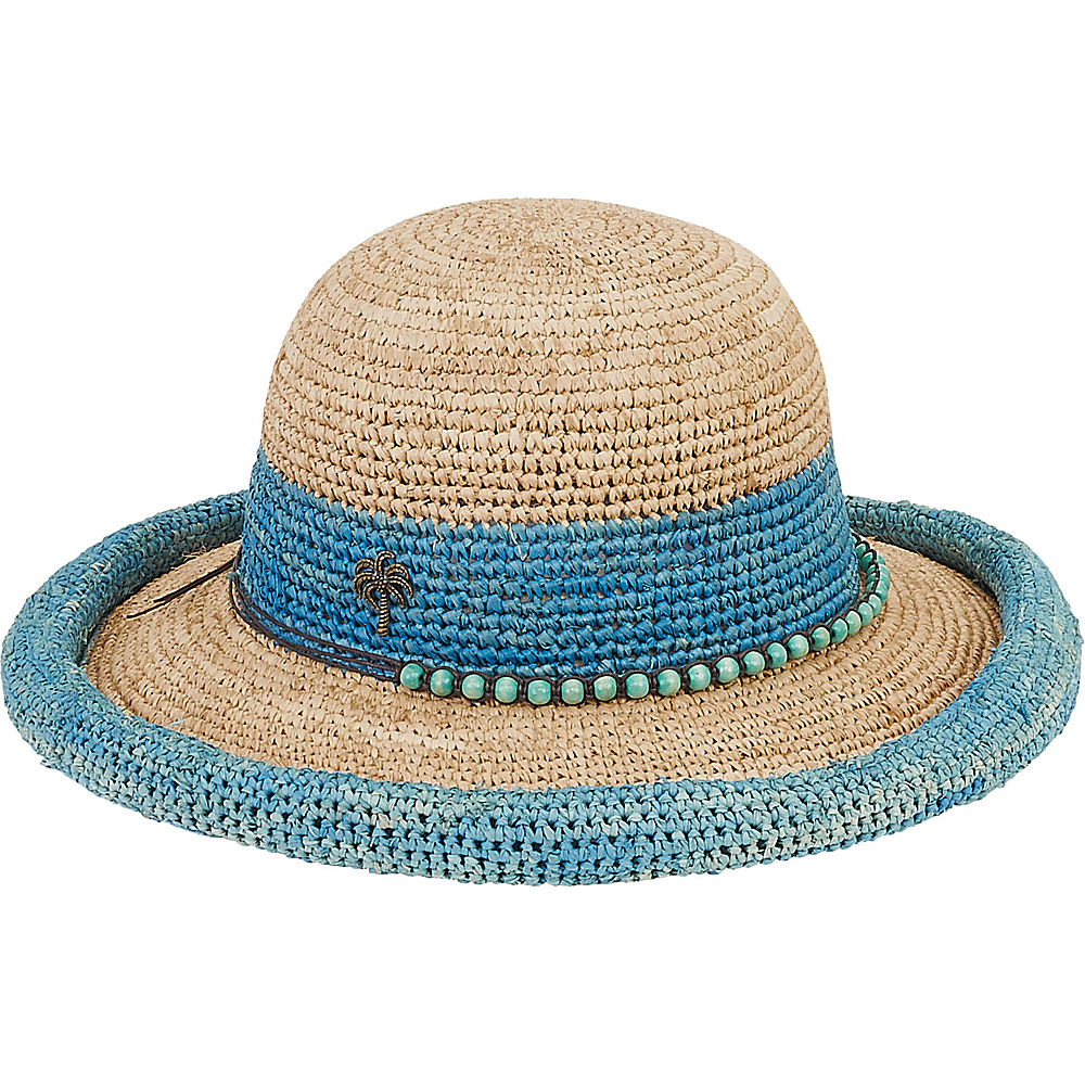 Sun N Sand Natural Raffia Finely Crocheted Turquoise - Sun N Sand Hats - Fashion Accessories, Hats