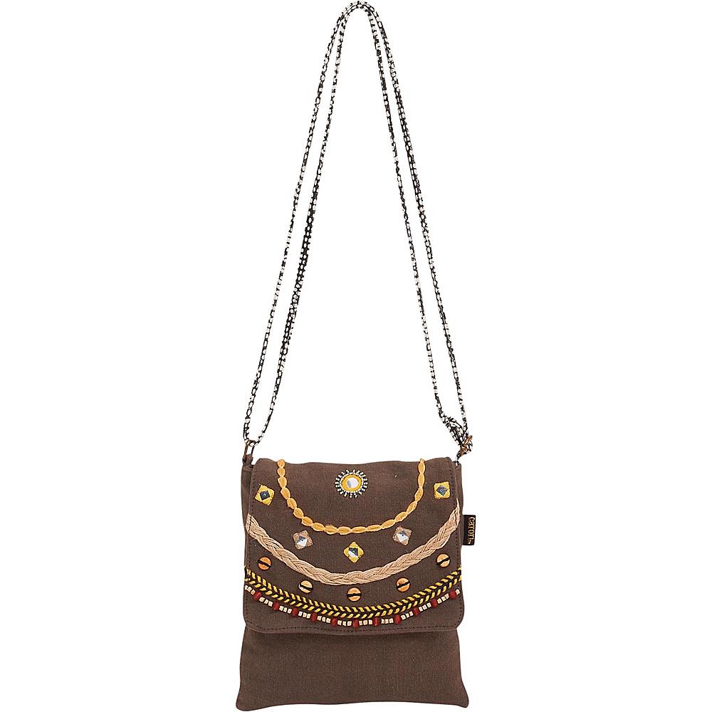 Sun N Sand Brielle Crossbody Brown - Sun N Sand Fabric Handbags - Handbags, Fabric Handbags
