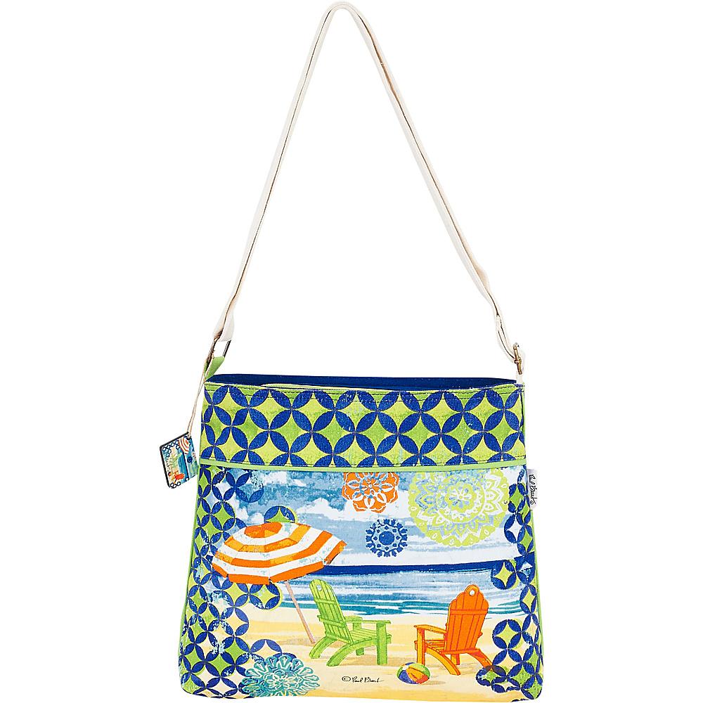 Sun N Sand Paul Brent Artistic Canvas Crossbody Geo Beach - Sun N Sand Fabric Handbags - Handbags, Fabric Handbags