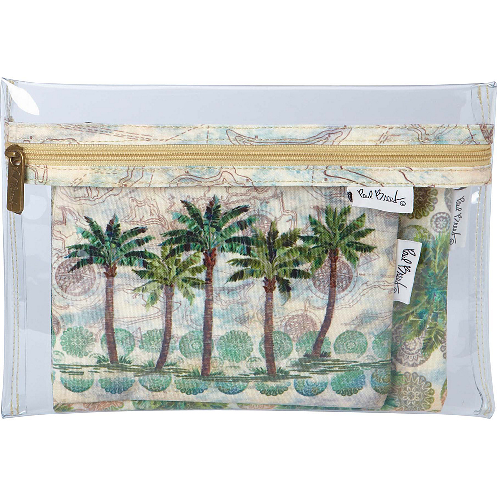 Sun N Sand Paul Brent Artistic Canvas Wallet Del Ray Palm - Sun N Sand Travel Wallets - Travel Accessories, Travel Wallets