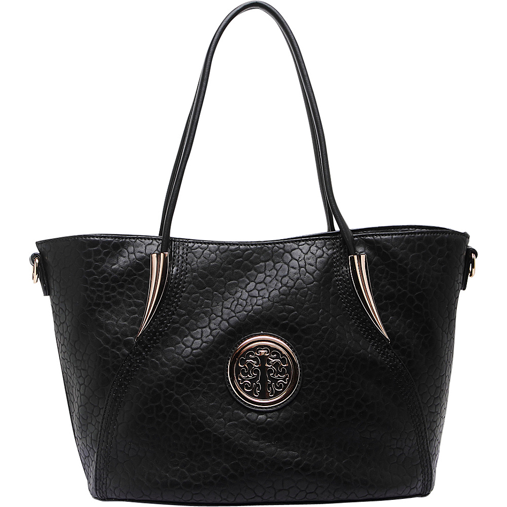 MKF Collection by Mia K. Farrow Selma Embossed Tote Black - MKF Collection by Mia K. Farrow Manmade Handbags - Handbags, Manmade Handbags