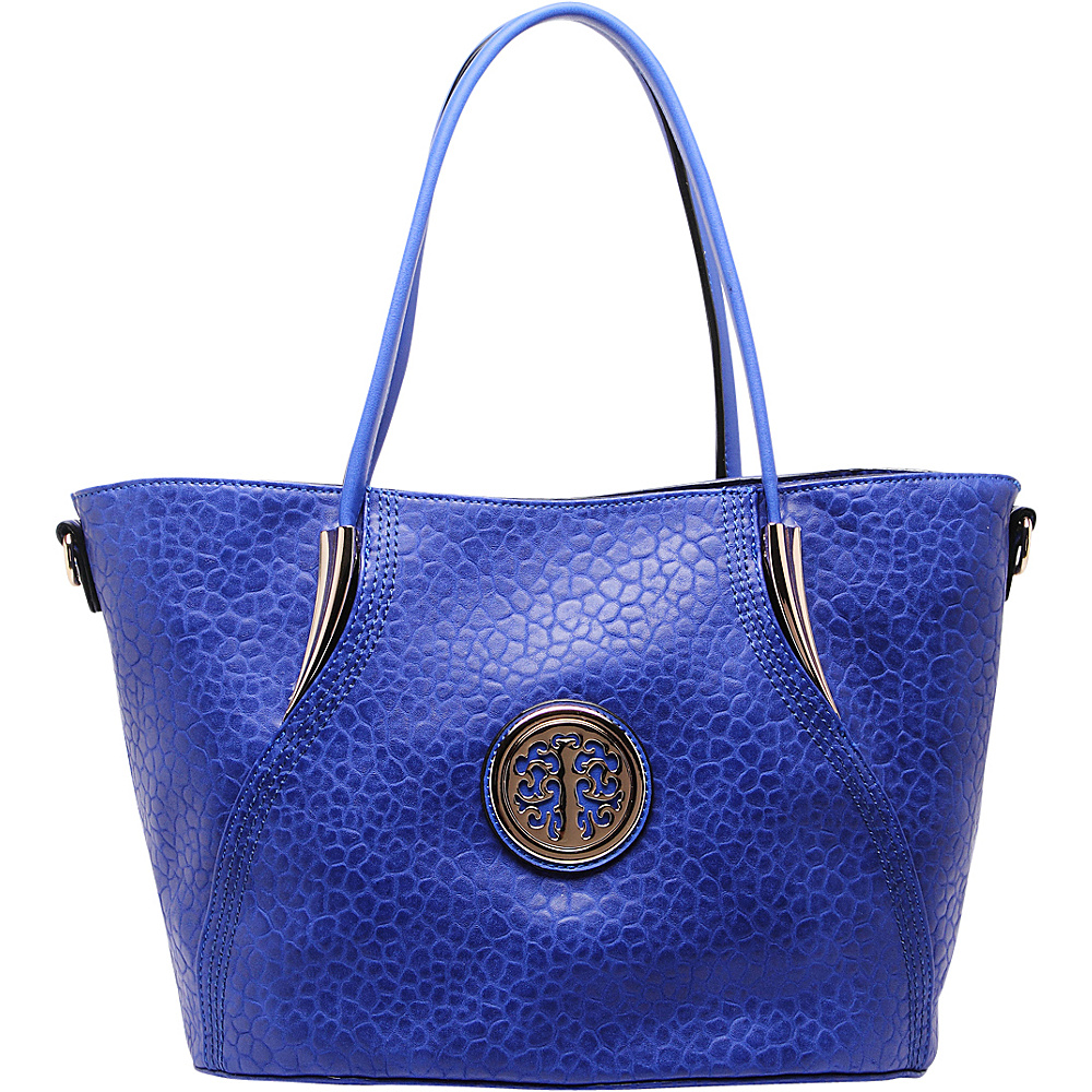 MKF Collection by Mia K. Farrow Selma Embossed Tote Blue - MKF Collection by Mia K. Farrow Manmade Handbags - Handbags, Manmade Handbags