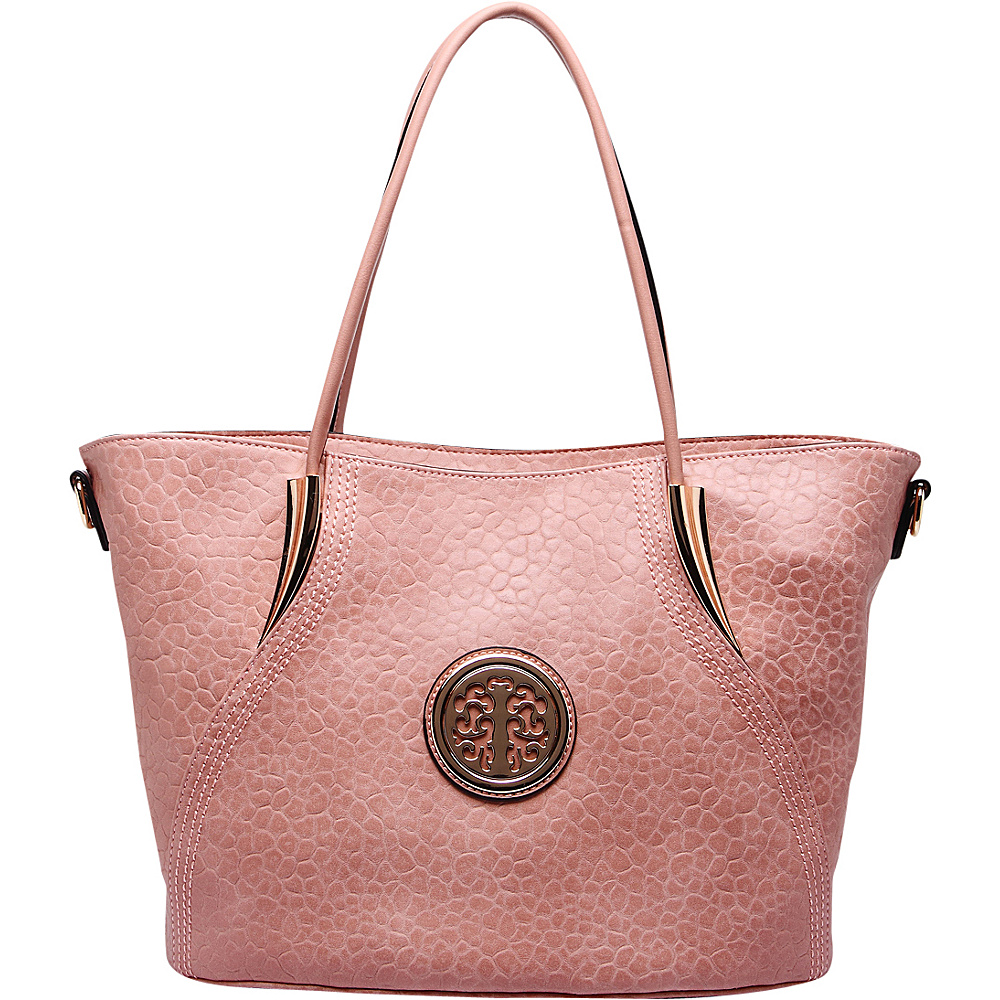 MKF Collection by Mia K. Farrow Selma Embossed Tote Pink - MKF Collection by Mia K. Farrow Manmade Handbags - Handbags, Manmade Handbags