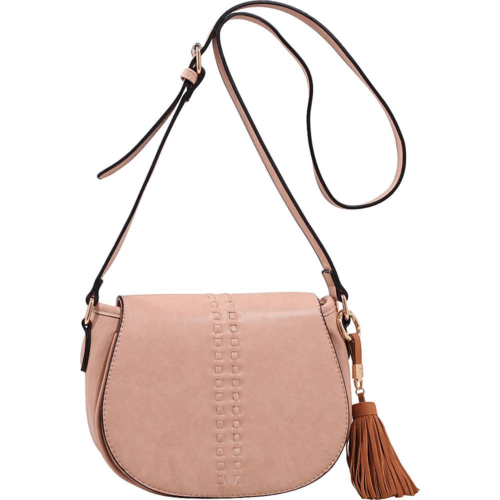 MKF Collection by Mia K. Farrow Rebecca Tassel Saddle Bag Mauve - MKF Collection by Mia K. Farrow Leather Handbags - Handbags, Leather Handbags