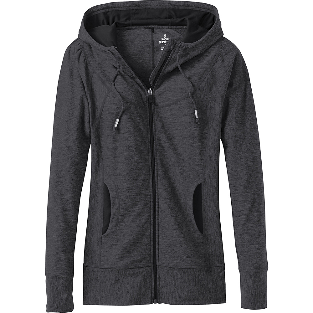 PrAna Ember  Zip Up Top M - Charcoal - PrAna Womens Apparel - Apparel & Footwear, Women's Apparel