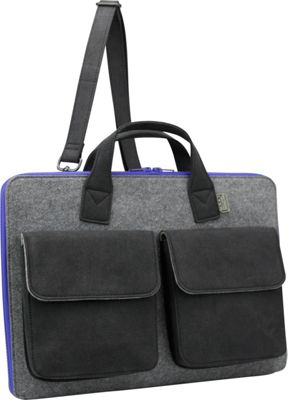 Mad Rabbit Kicking Tiger Frank Laptop Brief Elephant Grey - Mad Rabbit Kicking Tiger Non-Wheeled Business Cases