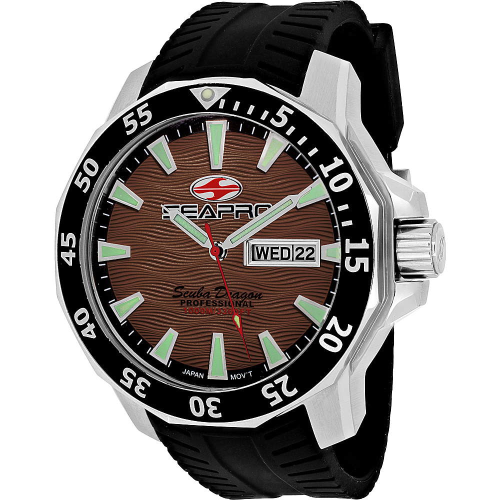 Seapro Watches Men s Scuba Dragon Diver Limited Edition 1000 Me Watch Brown Seapro Watches Watches