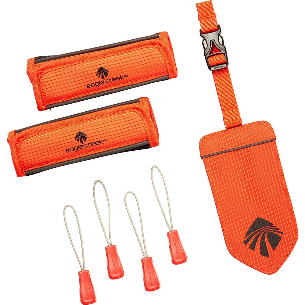 Eagle Creek Reflective Luggage Id Set Flame Orange - Eagle Creek Luggage Accessories - Travel Accessories, Luggage Accessories