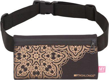 MyTagAlongs Mandala Fit Belt Black/Rose - MyTagAlongs Waist Packs