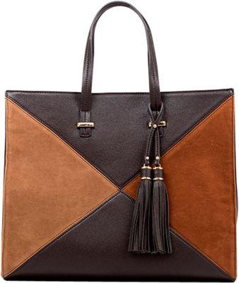 Like Dreams Brenda Tote Dark Brown - Like Dreams Manmade Handbags