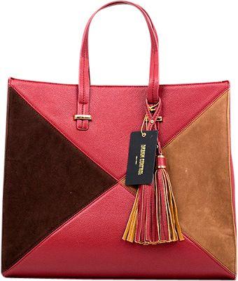 Like Dreams Brenda Tote Burgundy - Like Dreams Manmade Handbags