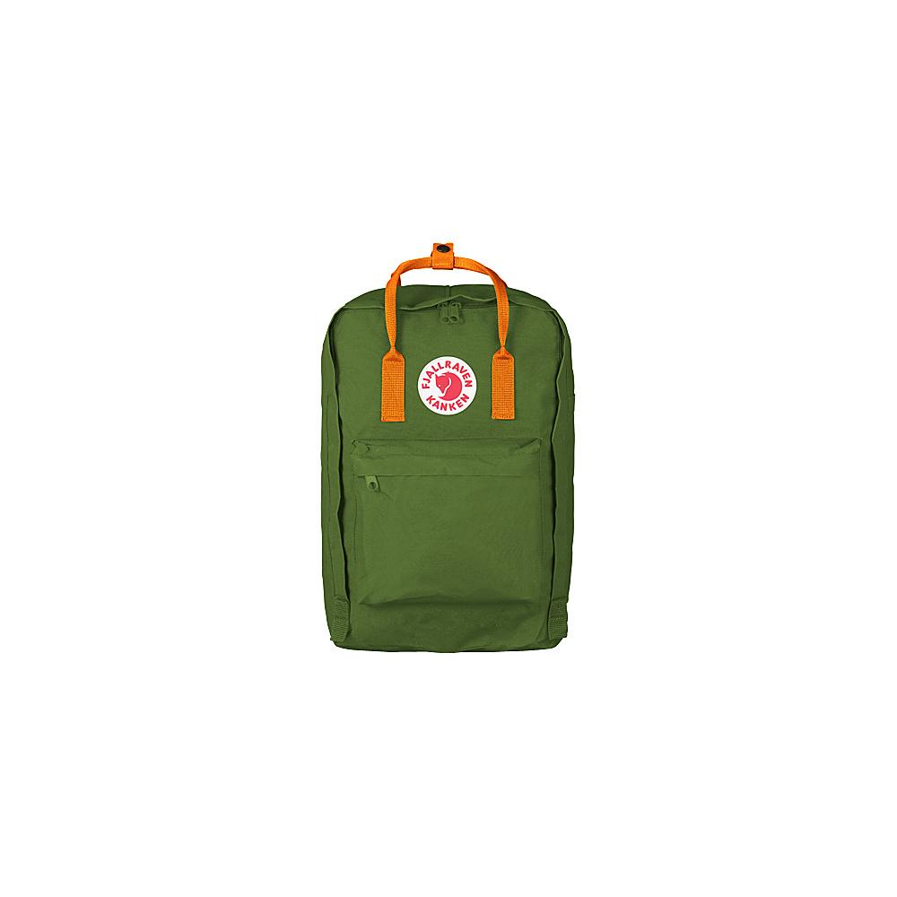 Fjallraven Kanken 17 Backpack Leaf Green-Burnt Orange - Fjallraven Laptop Backpacks - Backpacks, Laptop Backpacks