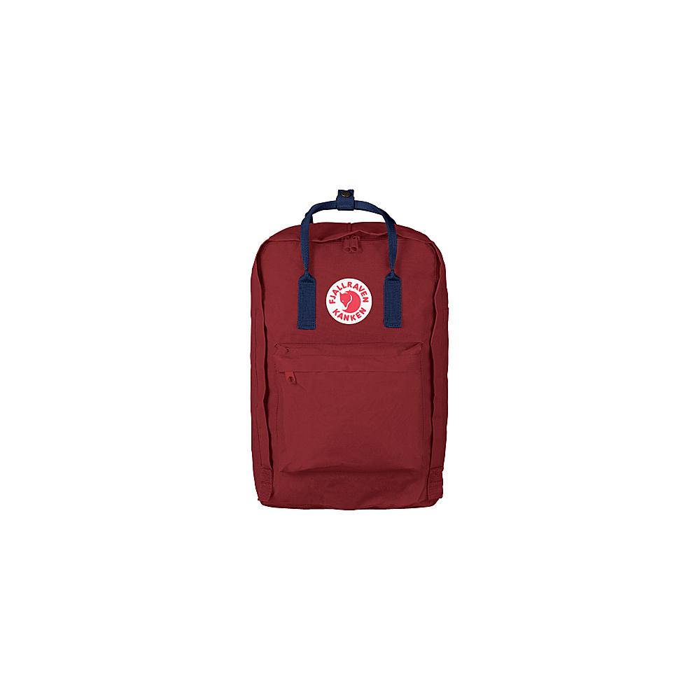 Fjallraven Kanken 17 Backpack Ox Red-Royal Blue - Fjallraven Laptop Backpacks - Backpacks, Laptop Backpacks