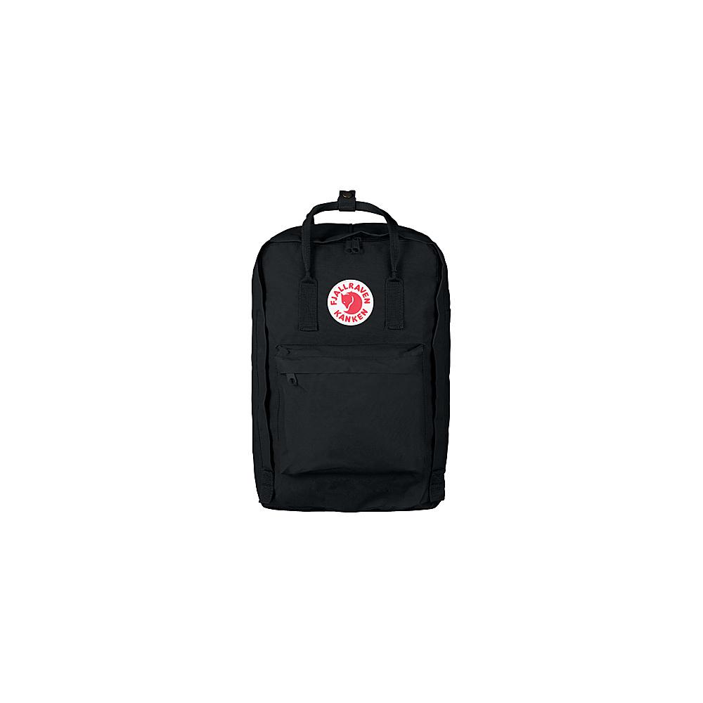 Fjallraven Kanken 17 Backpack Black - Fjallraven Laptop Backpacks - Backpacks, Laptop Backpacks