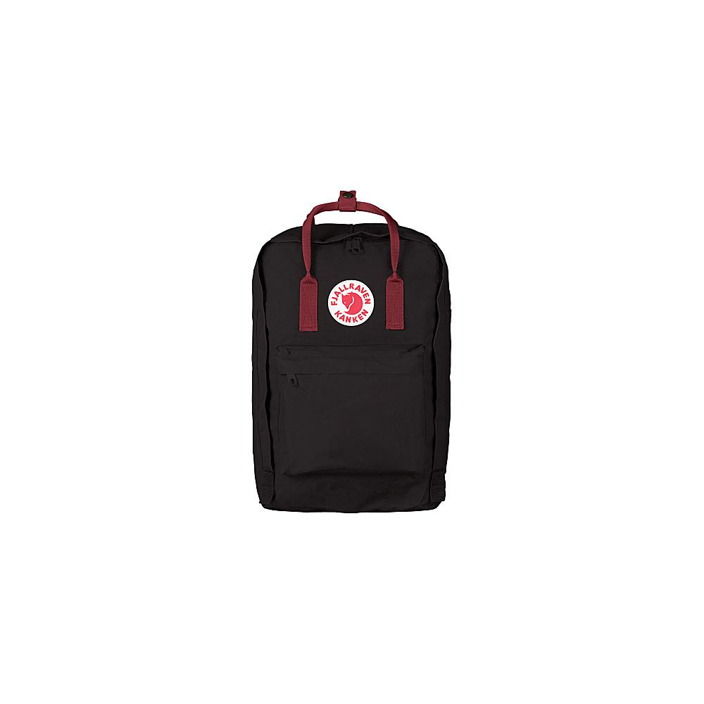 Fjallraven Kanken 17 Backpack Black-Ox Red - Fjallraven Laptop Backpacks - Backpacks, Laptop Backpacks