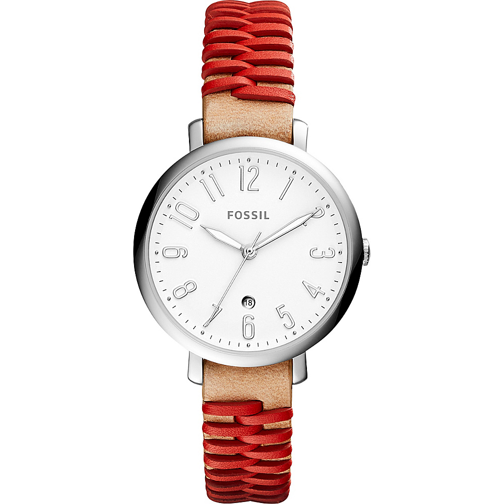 Fossil Jacqueline Three-Hand Date Watch Brown - Fossil Watches - Fashion Accessories, Watches
