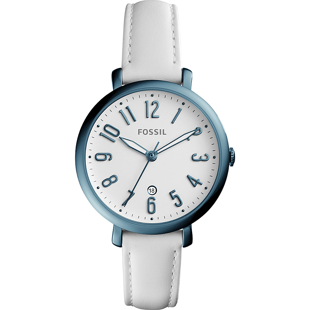 Fossil Jacqueline Three-Hand Date Watch White - Fossil Watches - Fashion Accessories, Watches