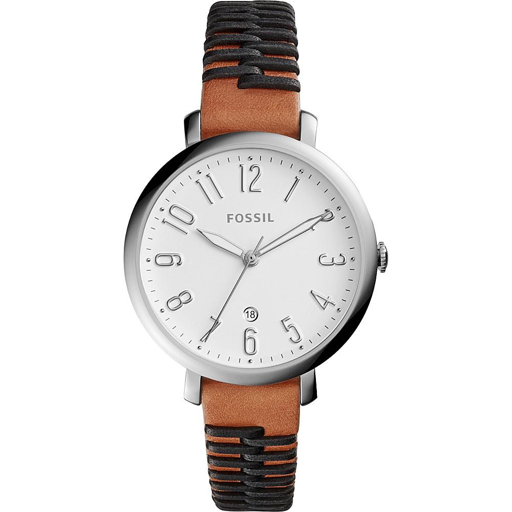 Fossil Jacqueline Three-Hand Date Watch Dark Brown - Fossil Watches - Fashion Accessories, Watches