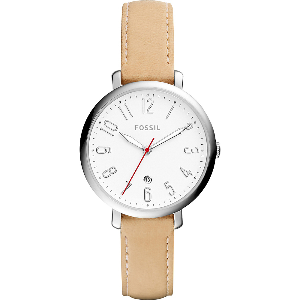 Fossil Jacqueline Three-Hand Date Watch Beige - Fossil Watches - Fashion Accessories, Watches