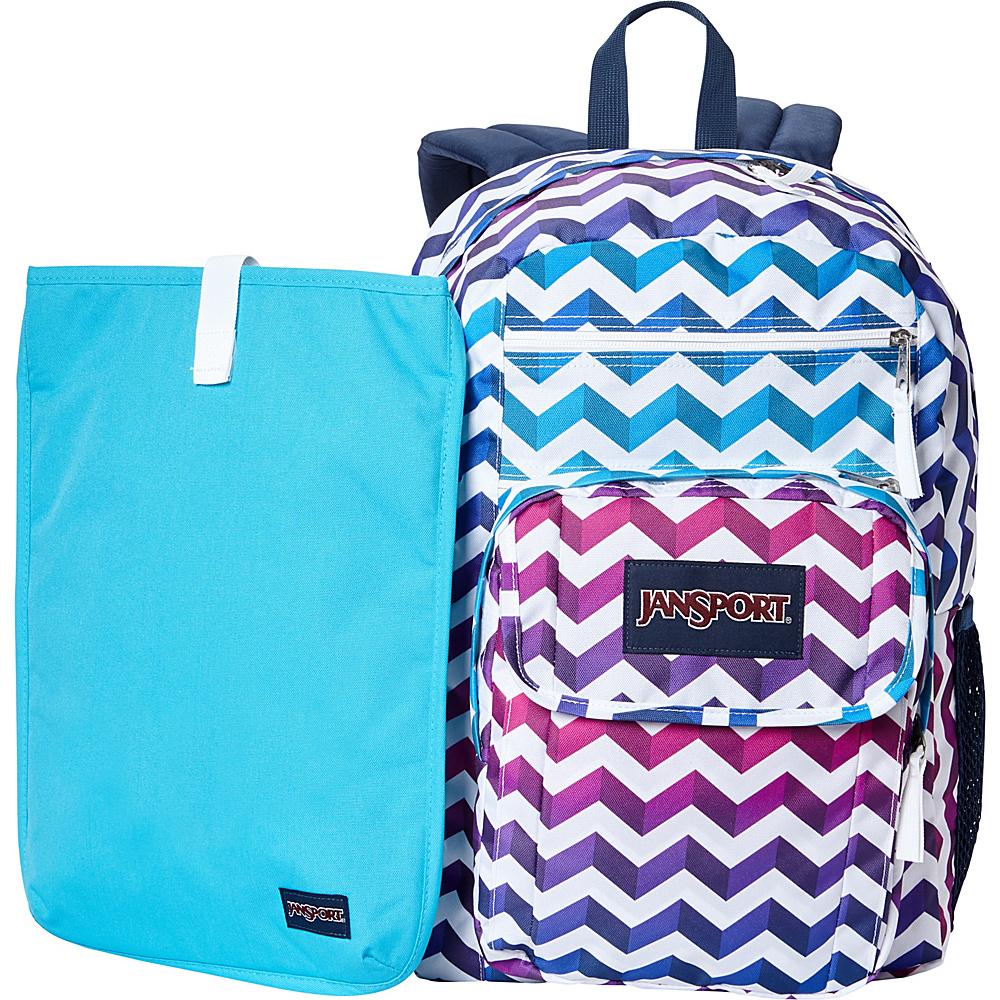 JanSport Digital Student Laptop Backpack- Sale Colors Shadow Chevron - JanSport Laptop Backpacks