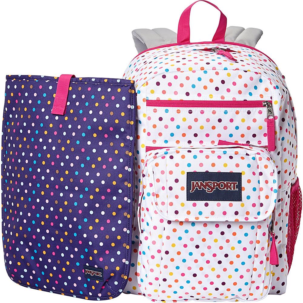 JanSport Digital Student Laptop Backpack- Sale Colors Spot-O-Rama White - JanSport Laptop Backpacks