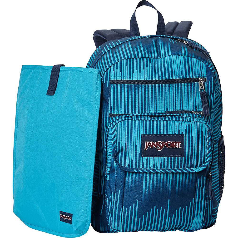JanSport Digital Student Laptop Backpack- Sale Colors Algiers Blue Running Stripe - JanSport Laptop Backpacks