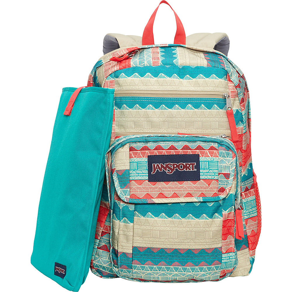 JanSport Digital Student Laptop Backpack- Sale Colors Malt Tan Boho Stripe - JanSport Laptop Backpacks