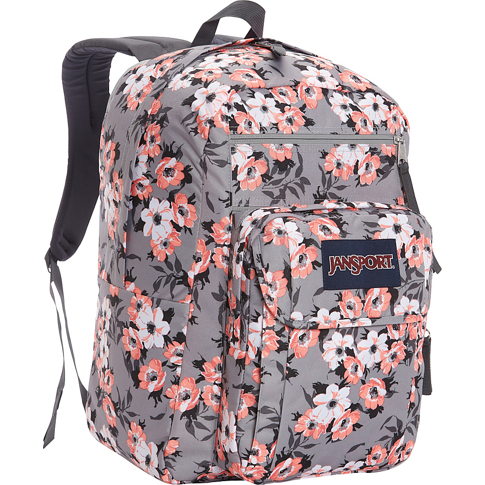 JanSport Digital Student Laptop Backpack- Sale Colors Coral Sparkle Pretty Posey - JanSport Laptop Backpacks
