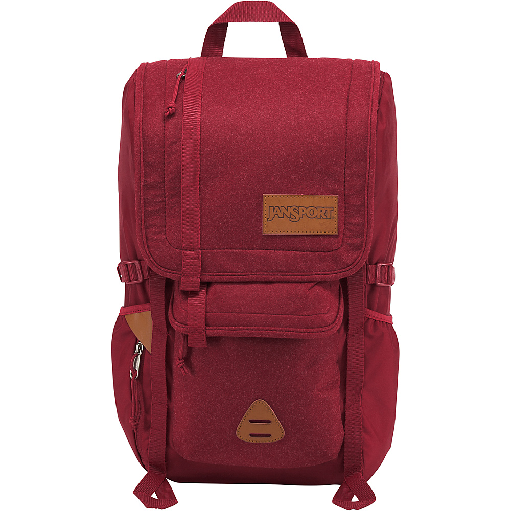 JanSport Hatchet Special Edition Laptop Backpack- Sale Colors Viking Red Felt - JanSport Laptop Backpacks