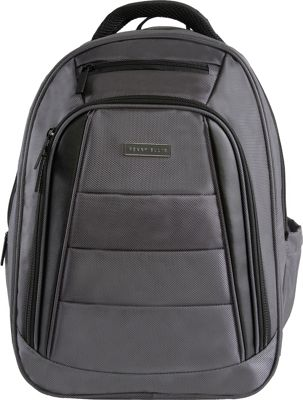 Perry Ellis Business Laptop Backpack with Tablet Compartment Charcoal - Perry Ellis Laptop Backpacks