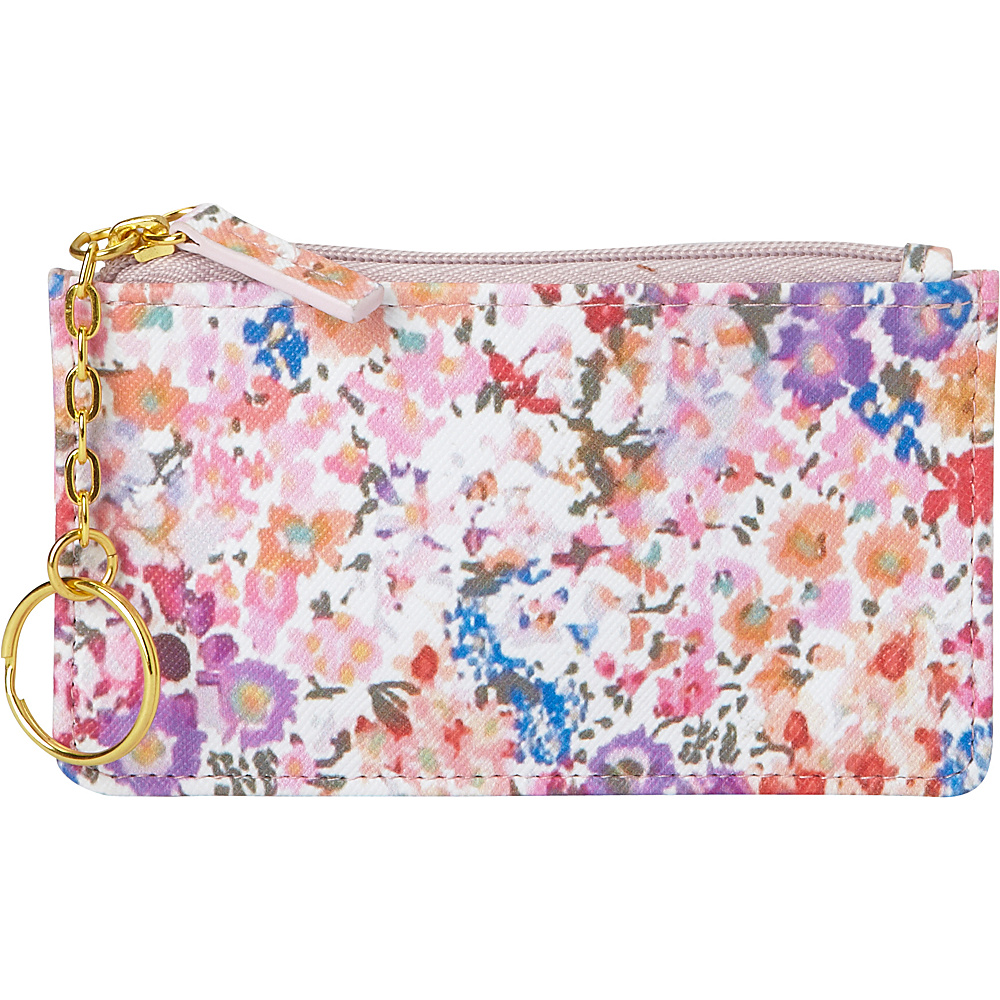 Buxton Wildflowers Pik-Me-Up Coin Case with Key Ring Multi - Buxton Womens Wallets - Women's SLG, Women's Wallets