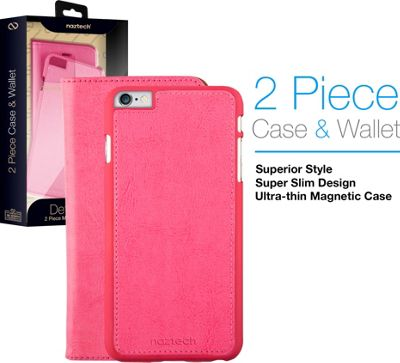 Naztech Allure Magnetic Cover + Wallet for iPhone 7 Pink - Naztech Electronic Cases