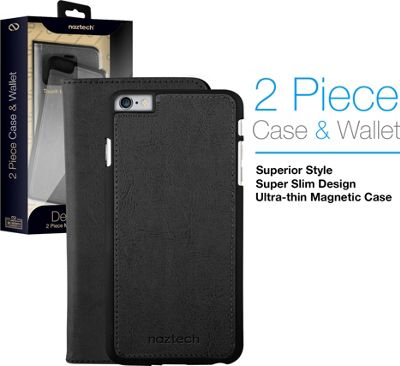 Naztech Allure Magnetic Cover + Wallet for iPhone 7 Black - Naztech Electronic Cases
