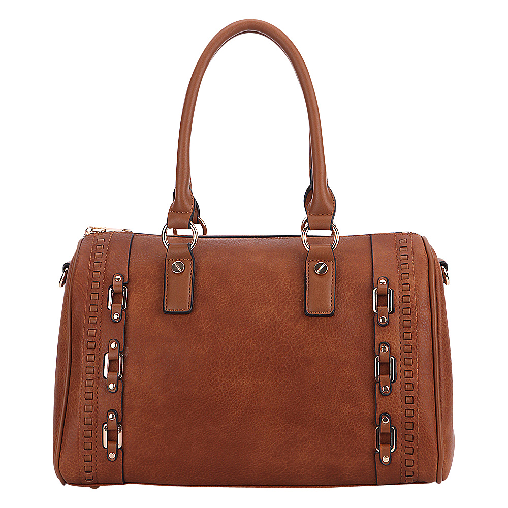 MKF Collection by Mia K. Farrow Perla Satchel Brown - MKF Collection by Mia K. Farrow Manmade Handbags - Handbags, Manmade Handbags