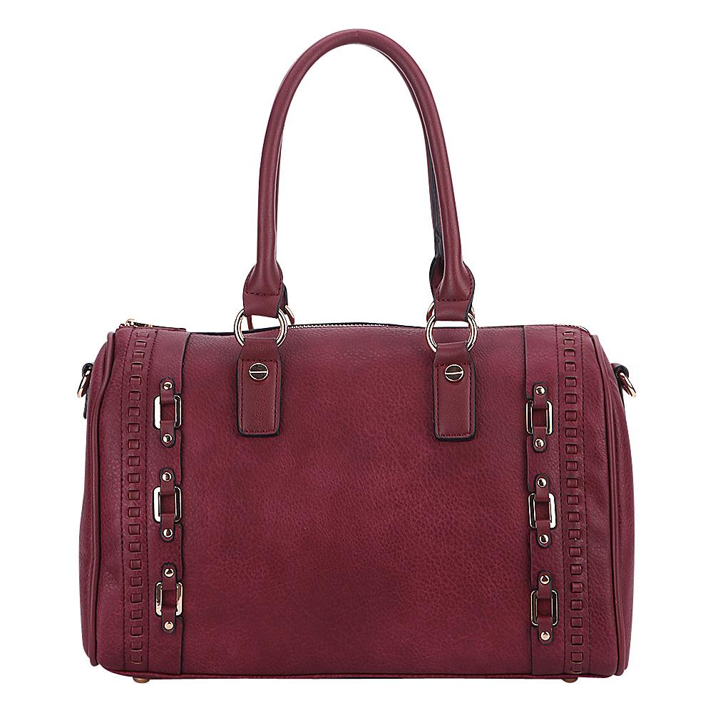 MKF Collection by Mia K. Farrow Perla Satchel Burgundy - MKF Collection by Mia K. Farrow Manmade Handbags - Handbags, Manmade Handbags