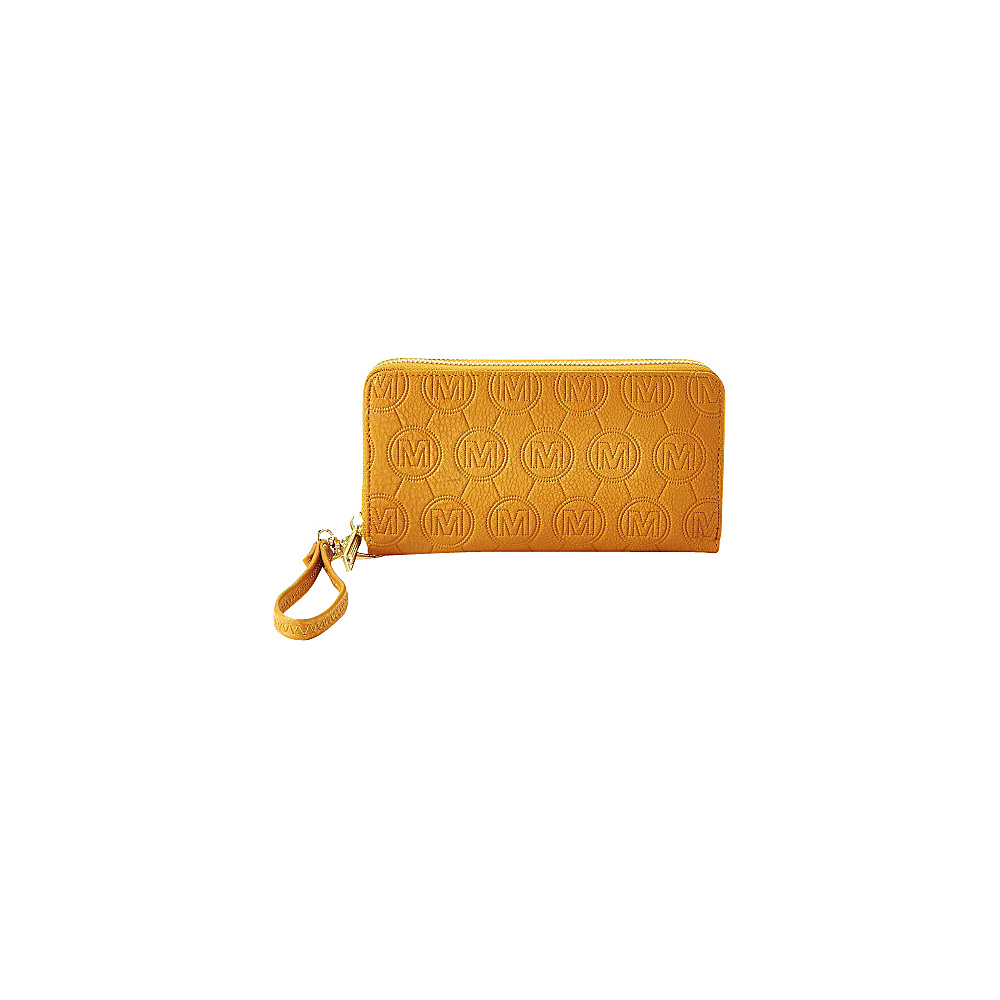 MKF Collection by Mia K. Farrow Samantha Embossed Signature Wallet Cognac Brown - MKF Collection by Mia K. Farrow Womens Wallets - Women's SLG, Women's Wallets