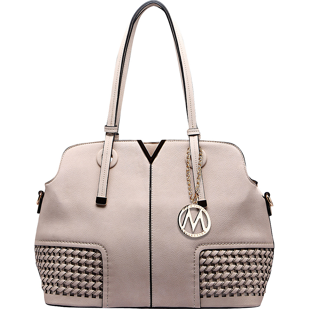 MKF Collection Camellia Satchel Beige - MKF Collection Manmade Handbags - Handbags, Manmade Handbags