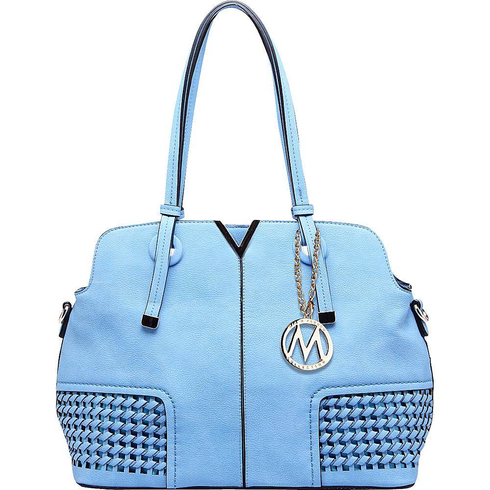 MKF Collection by Mia K. Farrow Camellia Satchel Blue - MKF Collection by Mia K. Farrow Manmade Handbags - Handbags, Manmade Handbags