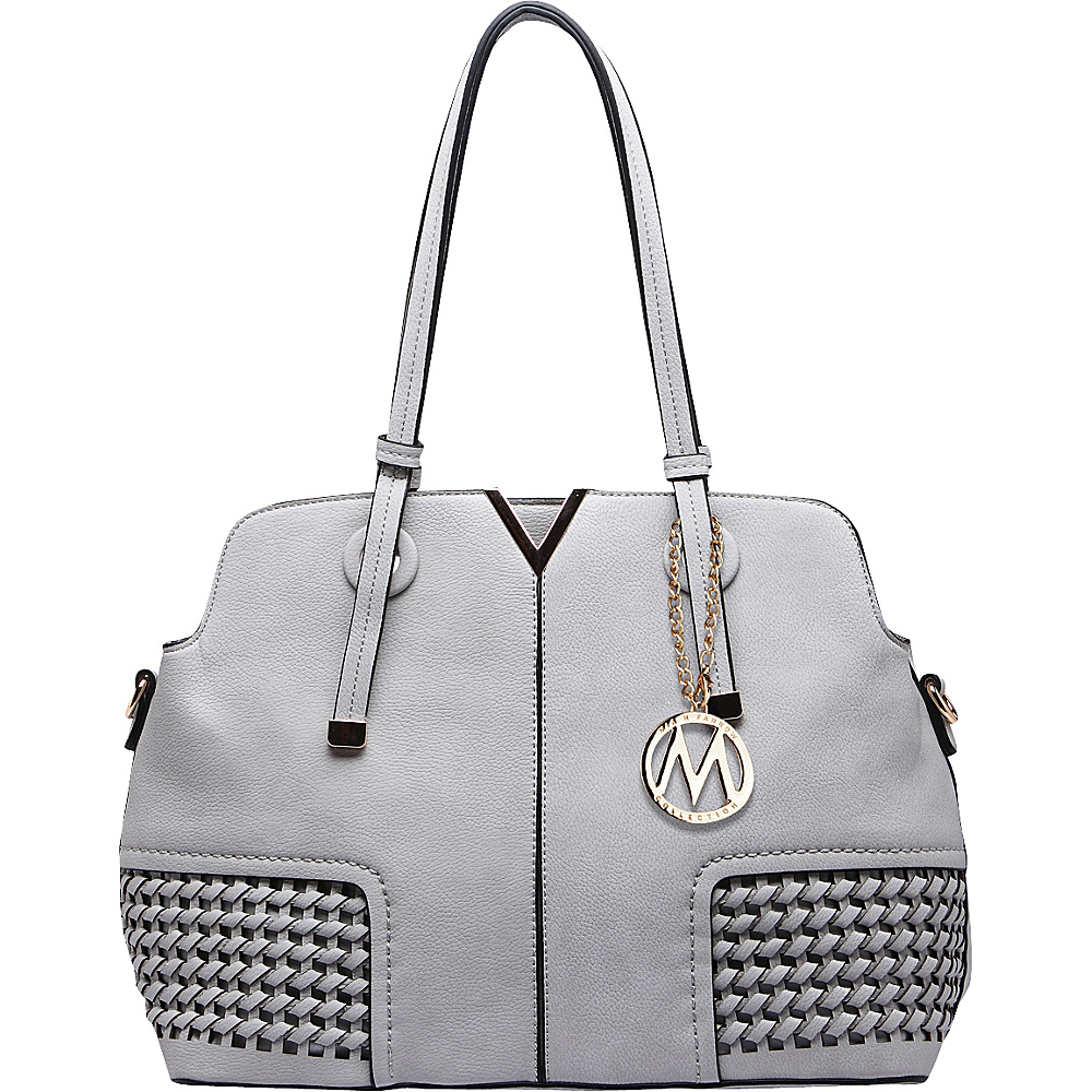 MKF Collection Camellia Satchel Grey - MKF Collection Manmade Handbags - Handbags, Manmade Handbags
