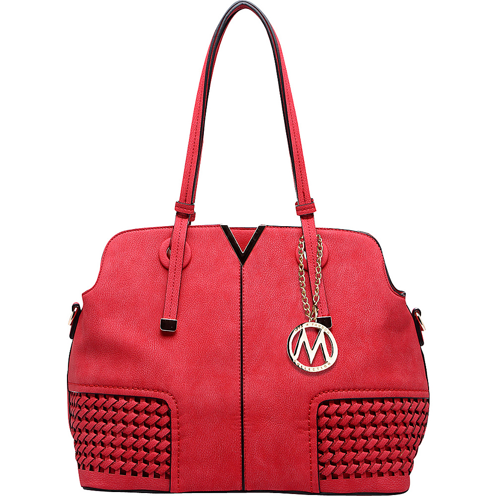 MKF Collection by Mia K. Farrow Camellia Satchel Red - MKF Collection by Mia K. Farrow Manmade Handbags - Handbags, Manmade Handbags