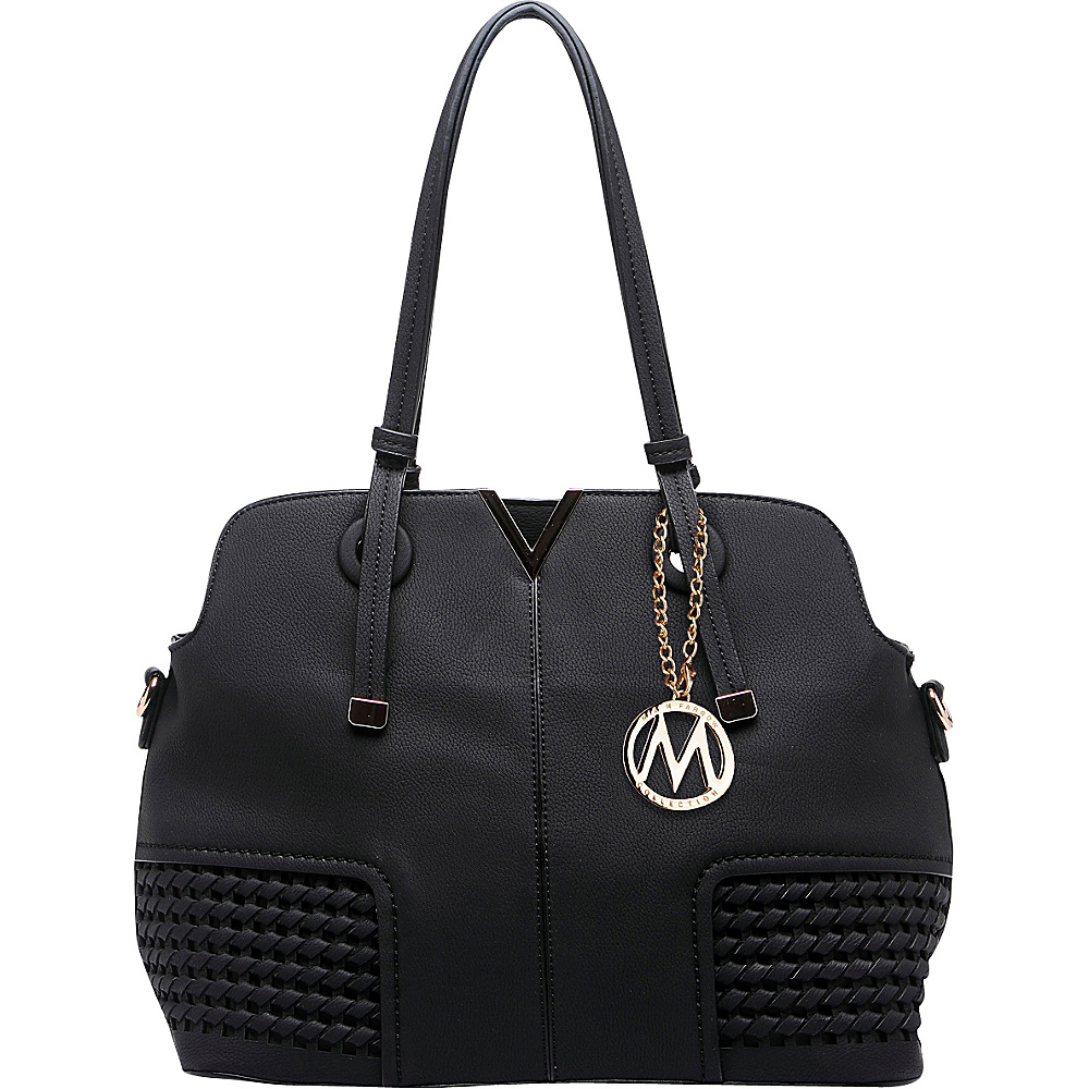 MKF Collection Camellia Satchel Black - MKF Collection Manmade Handbags - Handbags, Manmade Handbags