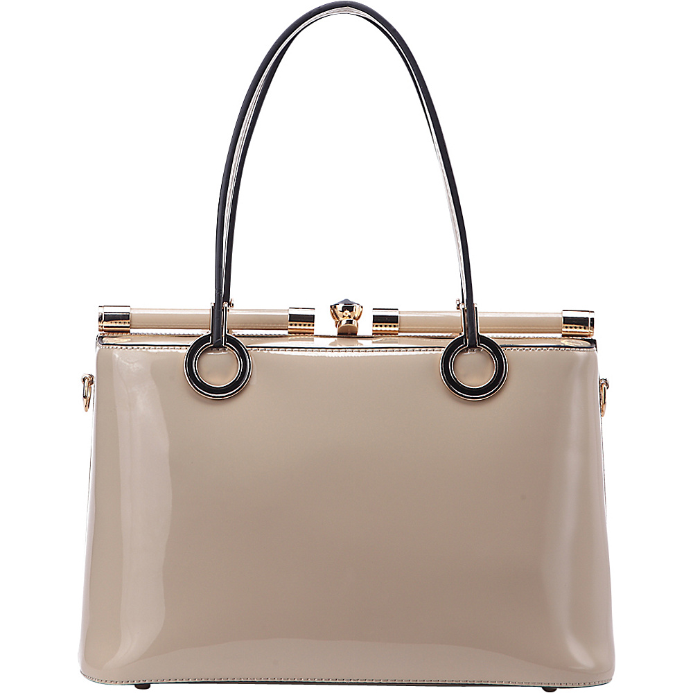 MKF Collection Alice Structured Bag Beige - MKF Collection Manmade Handbags - Handbags, Manmade Handbags