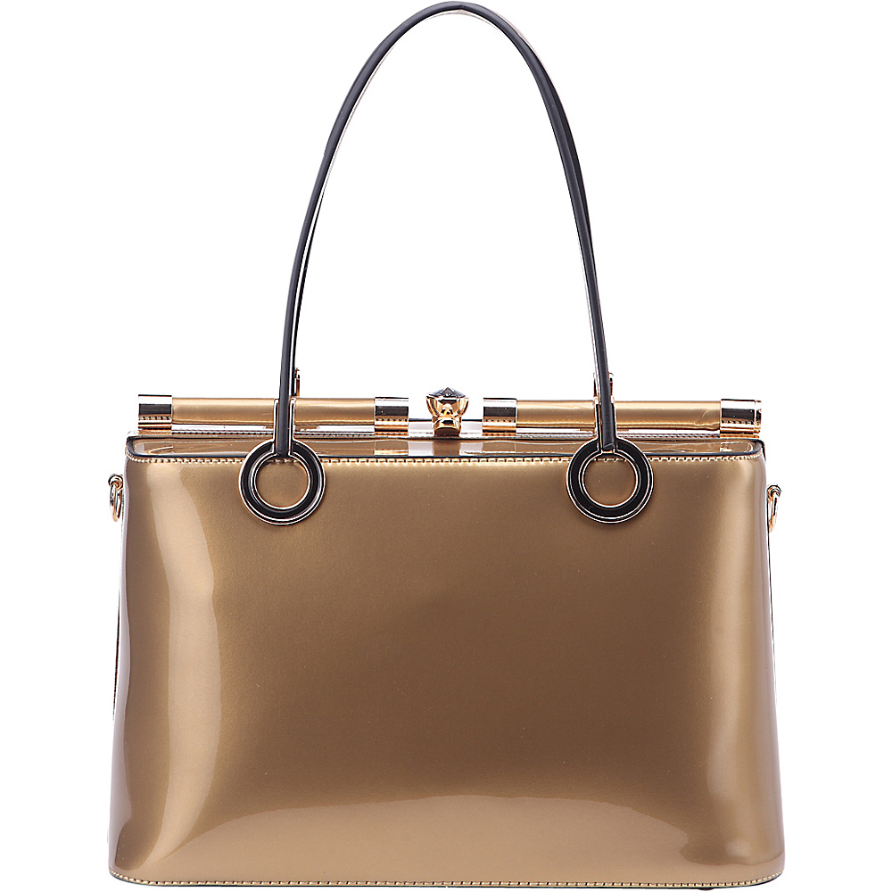 MKF Collection Alice Structured Bag Gold - MKF Collection Manmade Handbags - Handbags, Manmade Handbags