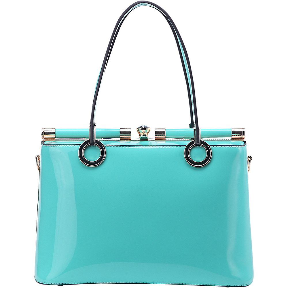 MKF Collection Alice Structured Bag Green/Teal - MKF Collection Manmade Handbags - Handbags, Manmade Handbags